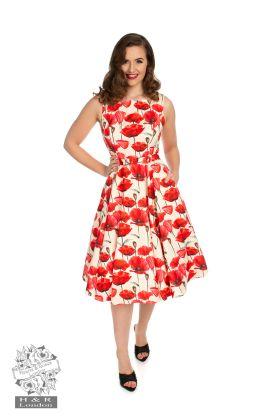 Sweet Poppy Swing Dress