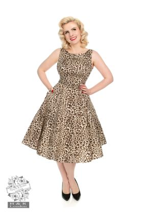 Zabrina Leopard Print Dress