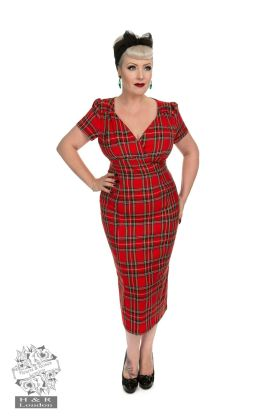 Highland Wiggle Dress In Red